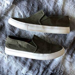 Steve Madden Olive Green Zarayy Slip Ons Sneaker